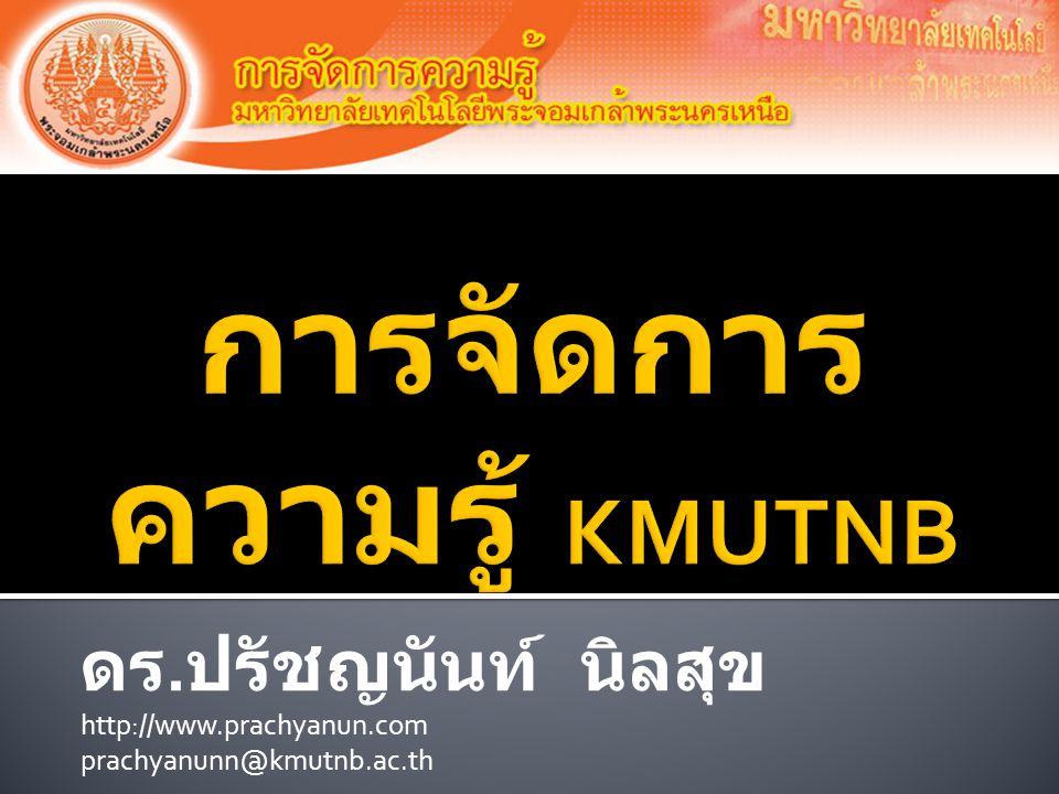 ดร. ปรัชญนันท์ นิลสุข http://www.prachyanun.com prachyanunn@kmutnb.ac.th