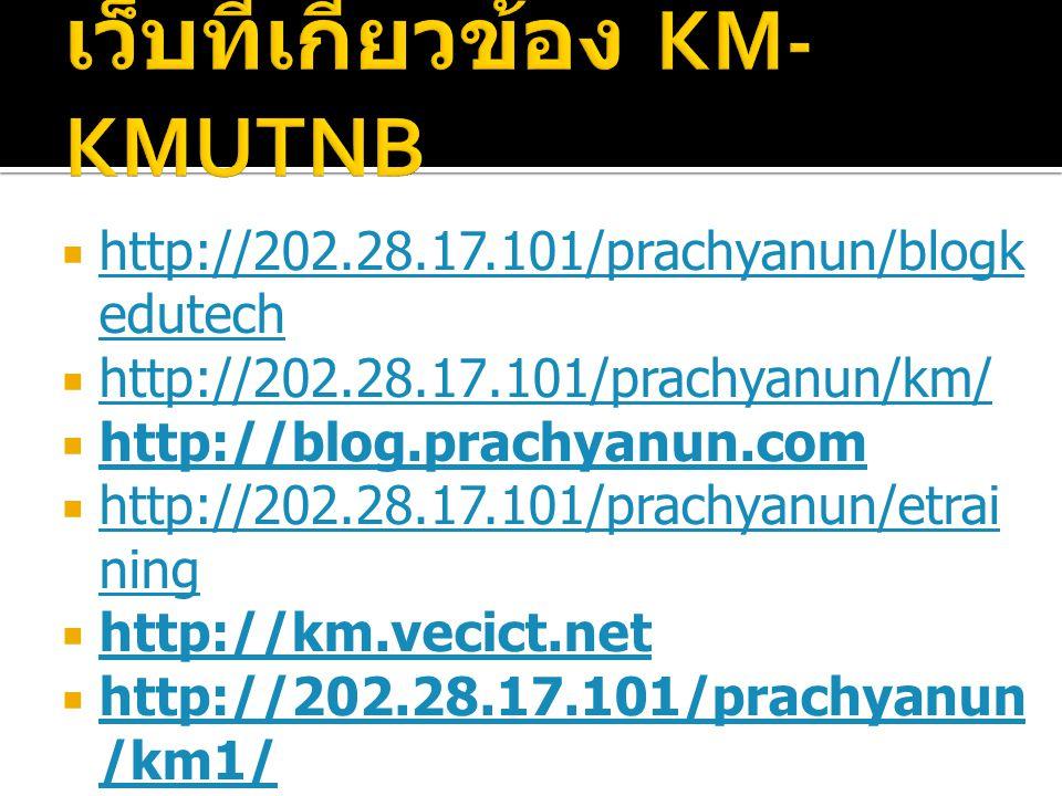  http://202.28.17.101/prachyanun/blogk edutech http://202.28.17.101/prachyanun/blogk edutech  http://202.28.17.101/prachyanun/km/ http://202.28.17.1