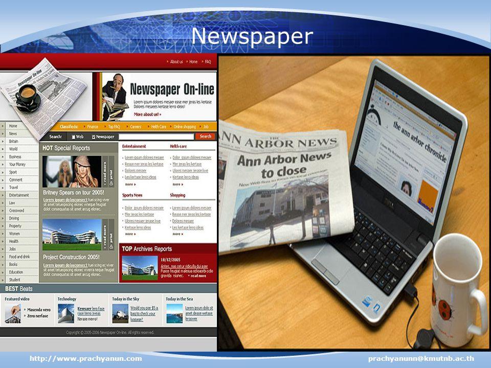 Newspaper http://www.prachyanun.comprachyanunn@kmutnb.ac.th