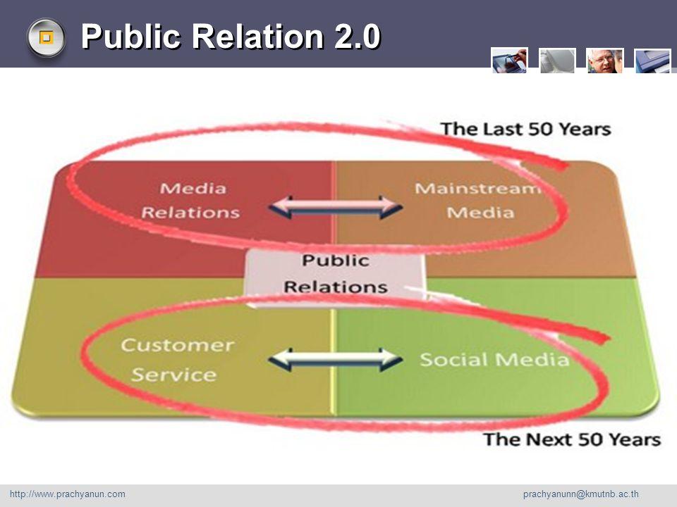 LOGO Public Relation 2.0 http://www.prachyanun.com prachyanunn@kmutnb.ac.th