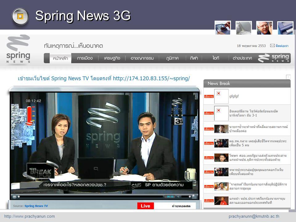 LOGO Spring News 3G http://www. prachyanu n.com http://www.prachyanun.com prachyanunn@kmutnb.ac.th