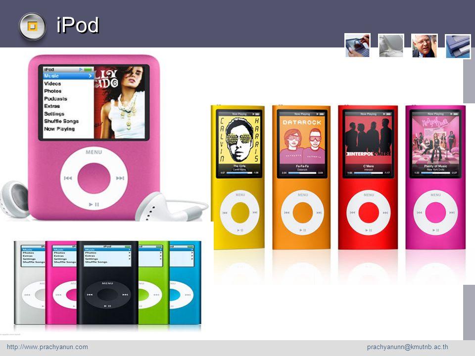 LOGO iPod http://www. prachyanu n.com http://www.prachyanun.com prachyanunn@kmutnb.ac.th