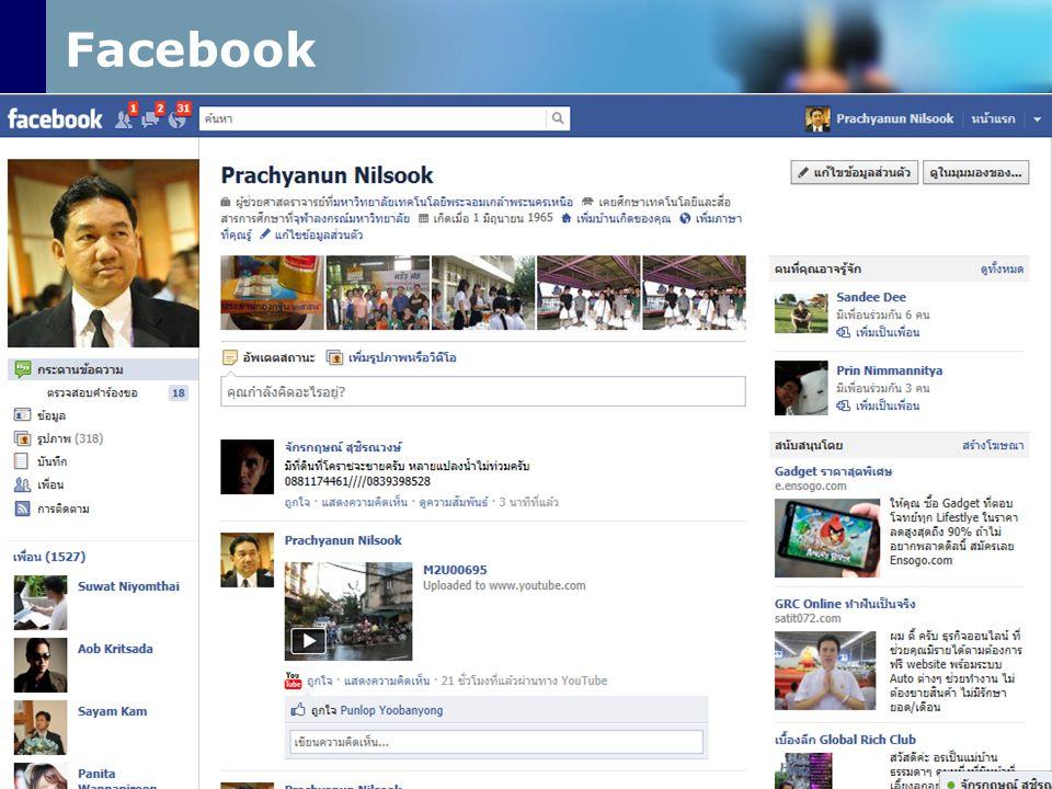 Facebook www.prachyanun.com