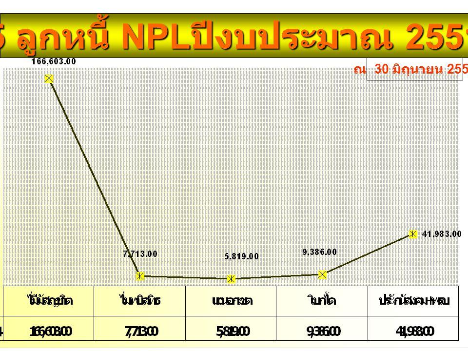 5 ลูกหนี้ NPL ปีงบประมาณ 2551 ณ 30 มิถุนายน 2551