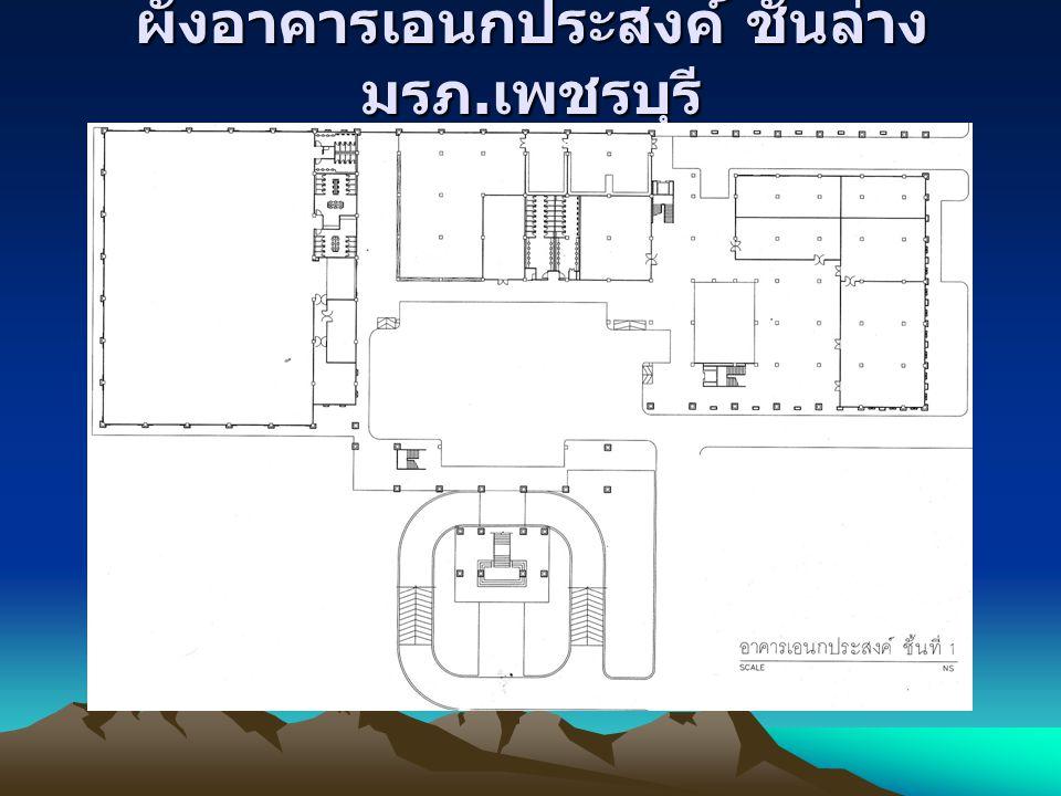 ผังอาคารเอนกประสงค์ ชั้นล่าง มรภ. เพชรบุรี โรง ยิมเนเซีย ม
