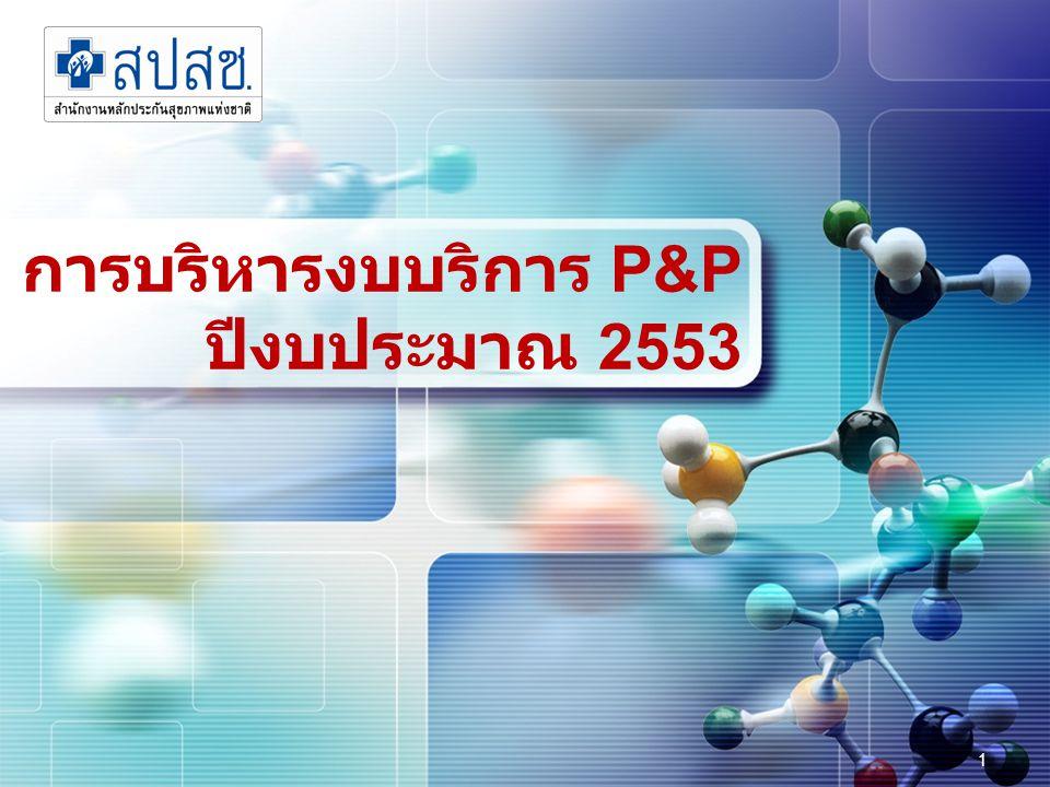 22 P&P Area–based  แนวทาง ดำเนินงานร่วมกันระหว่าง สปสช.