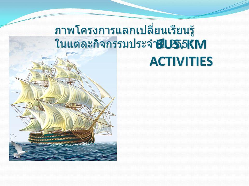 ภาพโครงการแลกเปลี่ยนเรียนรู้ ในแต่ละกิจกรรมประจำปี 2551 BUS. KM ACTIVITIES