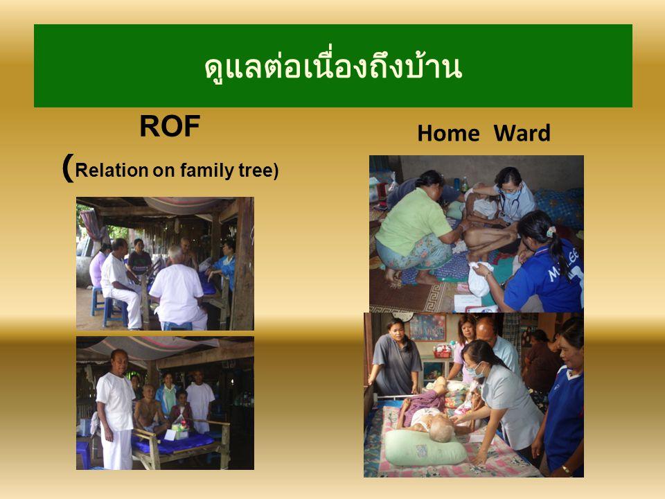 ดูแลต่อเนื่องถึงบ้าน ROF ( Relation on family tree) Home Ward
