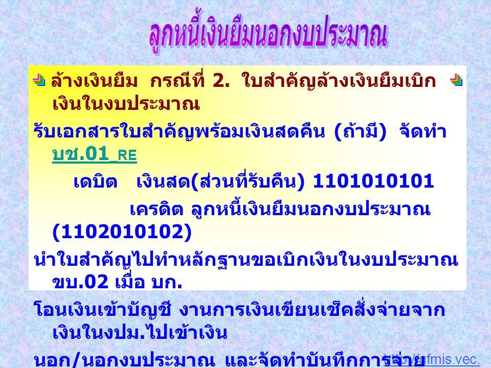 http://gfmis.vec.go.th ล้างเงินยืม กรณีที่ 2.