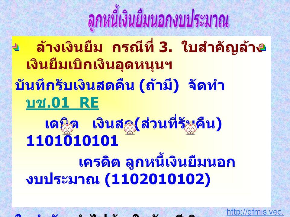 http://gfmis.vec.go.th ล้างเงินยืม กรณีที่ 3.