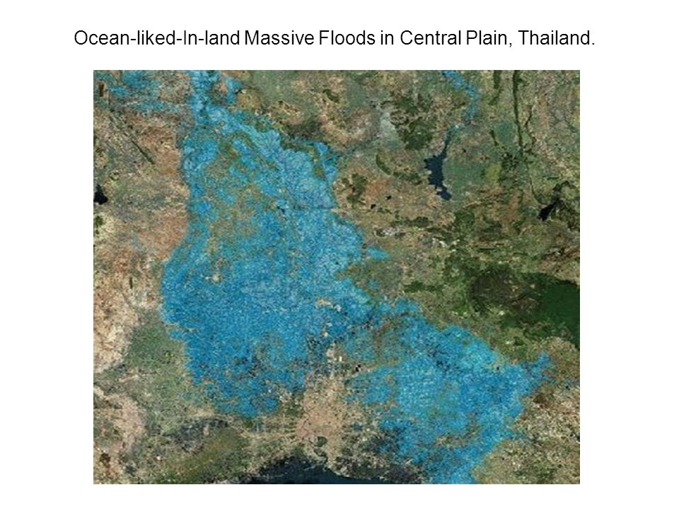 Ocean-liked-In-land Massive Floods in Central Plain, Thailand.