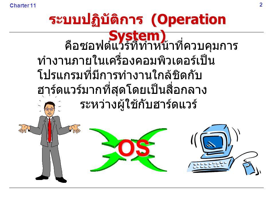 คือซอฟต์แวร์ที่ทำหน้าที่ควบคุมการ ทำงานภายในเครื่องคอมพิวเตอร์เป็น โปรแกรมที่มีการทำงานใกล้ชิดกับ ฮาร์ดแวร์มากที่สุดโดยเป็นสื่อกลาง ระหว่างผู้ใช้กับฮา