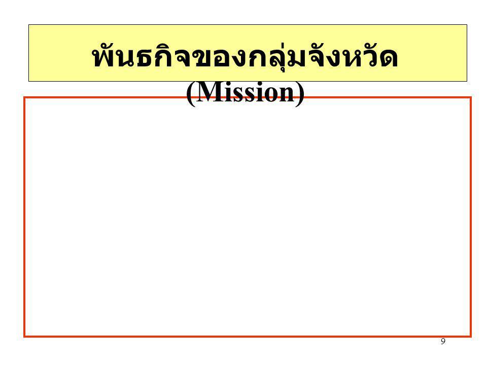 9 พันธกิจของกลุ่มจังหวัด (Mission)