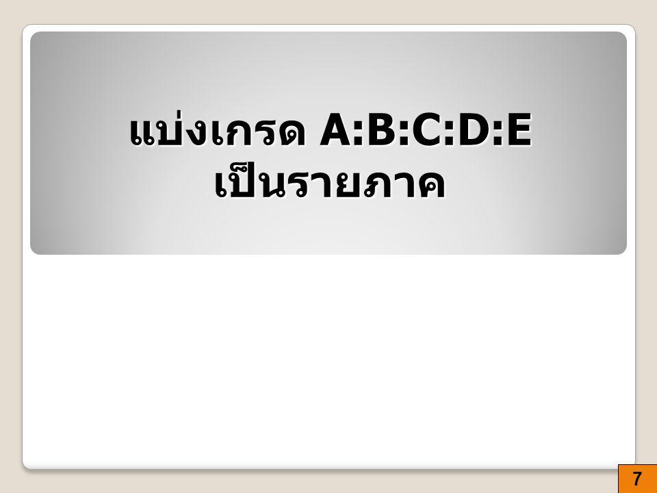แบ่งเกรด A:B:C:D:E เป็นรายภาค 7
