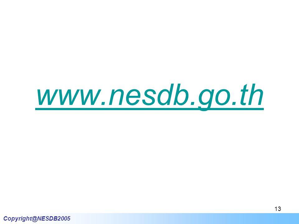 Copyright@NESDB2005 13 www.nesdb.go.th
