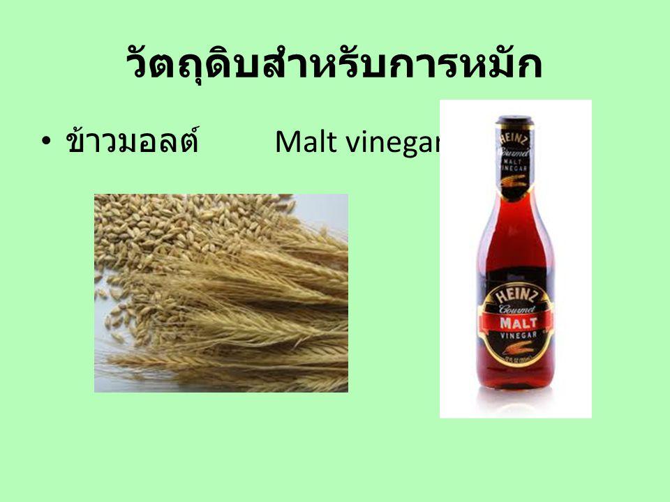 วัตถุดิบสำหรับการหมัก ข้าวมอลต์ Malt vinegar