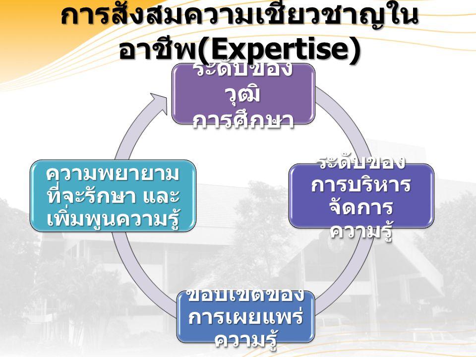การสั่งสมความเชี่ยวชาญใน อาชีพ (Expertise)
