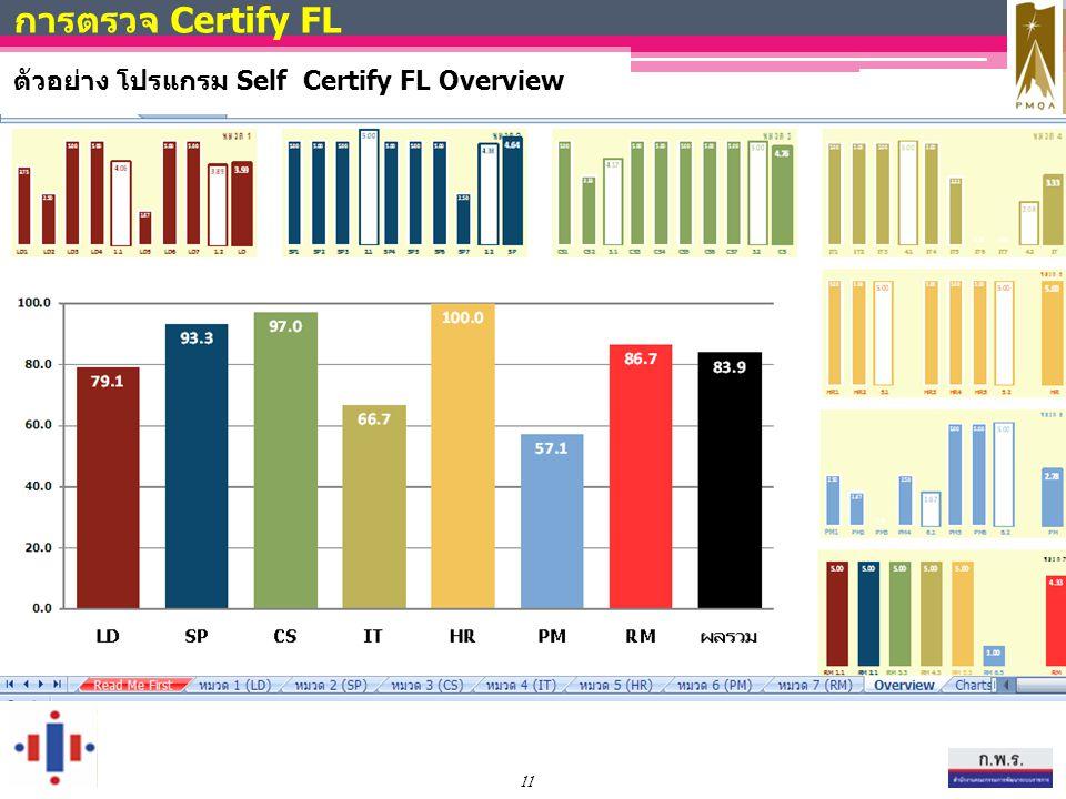 11 การตรวจ Certify FL ตัวอย่าง โปรแกรม Self Certify FL Overview