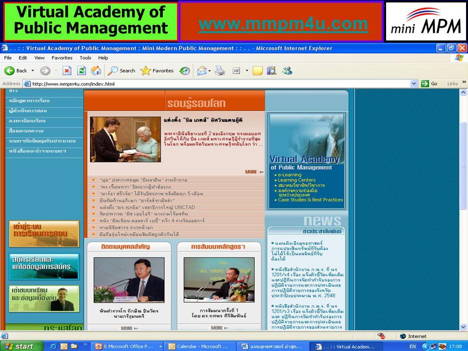 47 www.mmpm4u.com Virtual Academy of Public Management