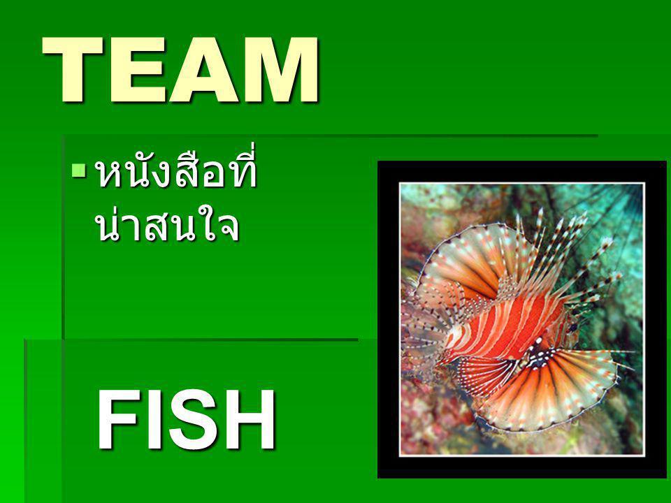 TEAM  หนังสือที่ น่าสนใจ FISH FISH