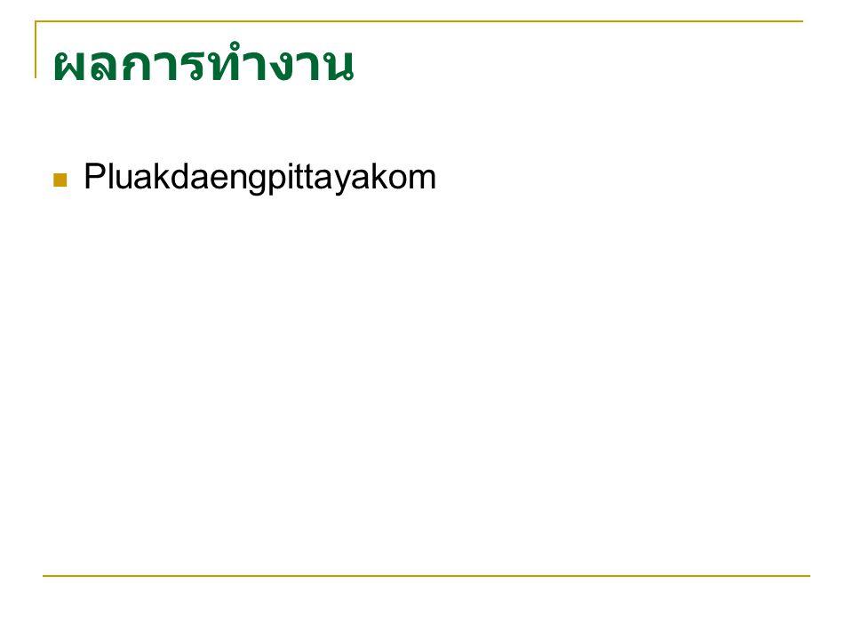 ผลการทำงาน Pluakdaengpittayakom