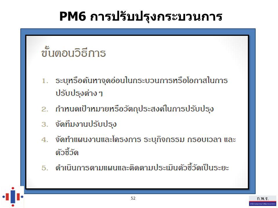 PM6 การปรับปรุงกระบวนการ 52