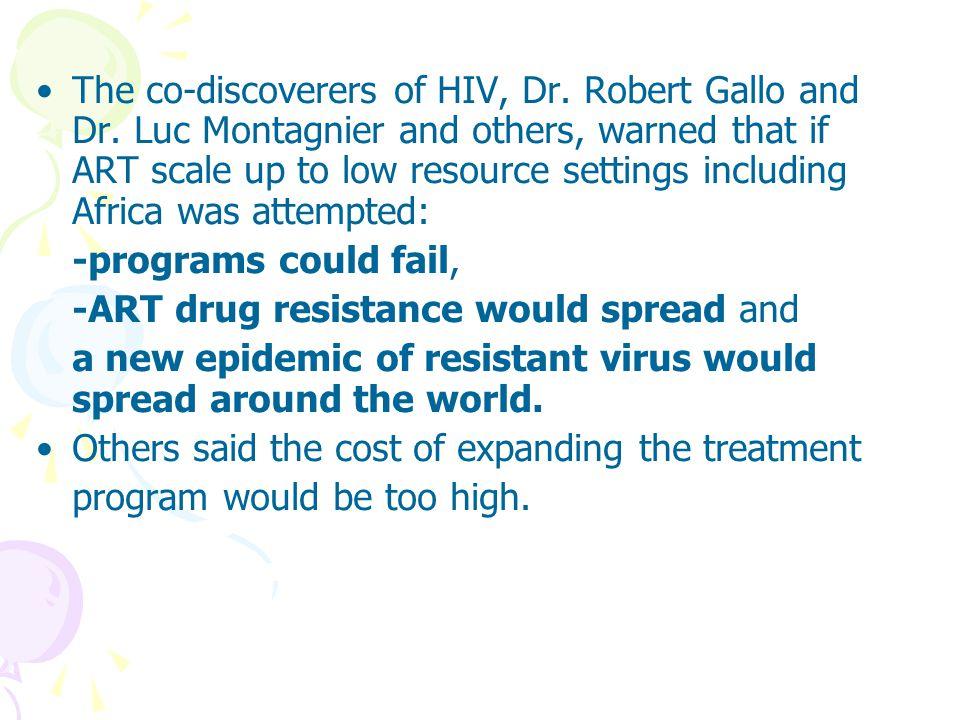 EWIs วางแผนกลยุทธิ์สำหรับนำไปใช้กับทุกแห่งที่มี การให้บริการยาต้านไวรัส เก็บข้อมูลทางคลินิกและการให้ยาและทบทวน สรุปเป็นรายงานประจำปีจากการวิเคราะห์ EWIs และให้คำแนะนำเพื่อพัฒนาแก่หน่วยบริการ เฉพาะแห่งเพื่อป้องกันการเกิดการดื้อยา และมี การเฝ้าระวังในปีต่อไป