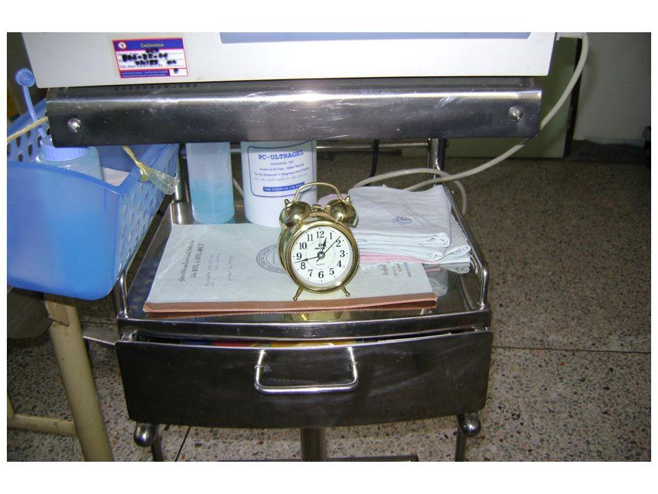 ดังนั้นทุกครั้งที่จะทำการ ชาร์ทแบตเตอรี่ EKG จะต้อง ตั้งนาฬิกา ไว้ล่วงหน้า 4 ชม.