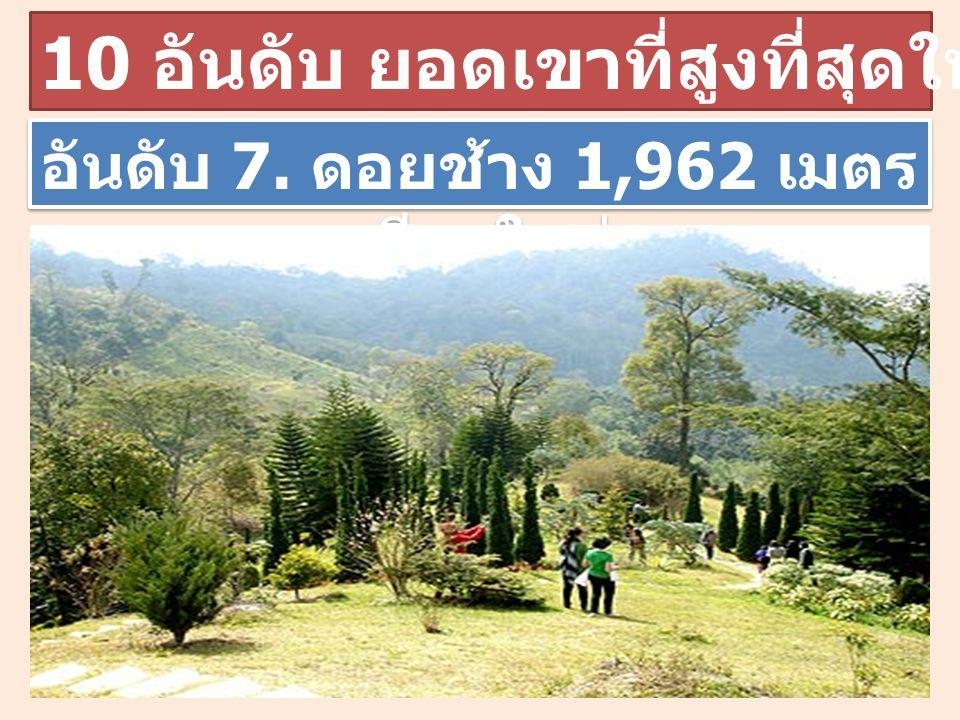 10 อันดับ ยอดเขาที่สูงที่สุดในประเทศไทย อันดับ 7. ดอยช้าง 1,962 เมตร เชียงใหม่