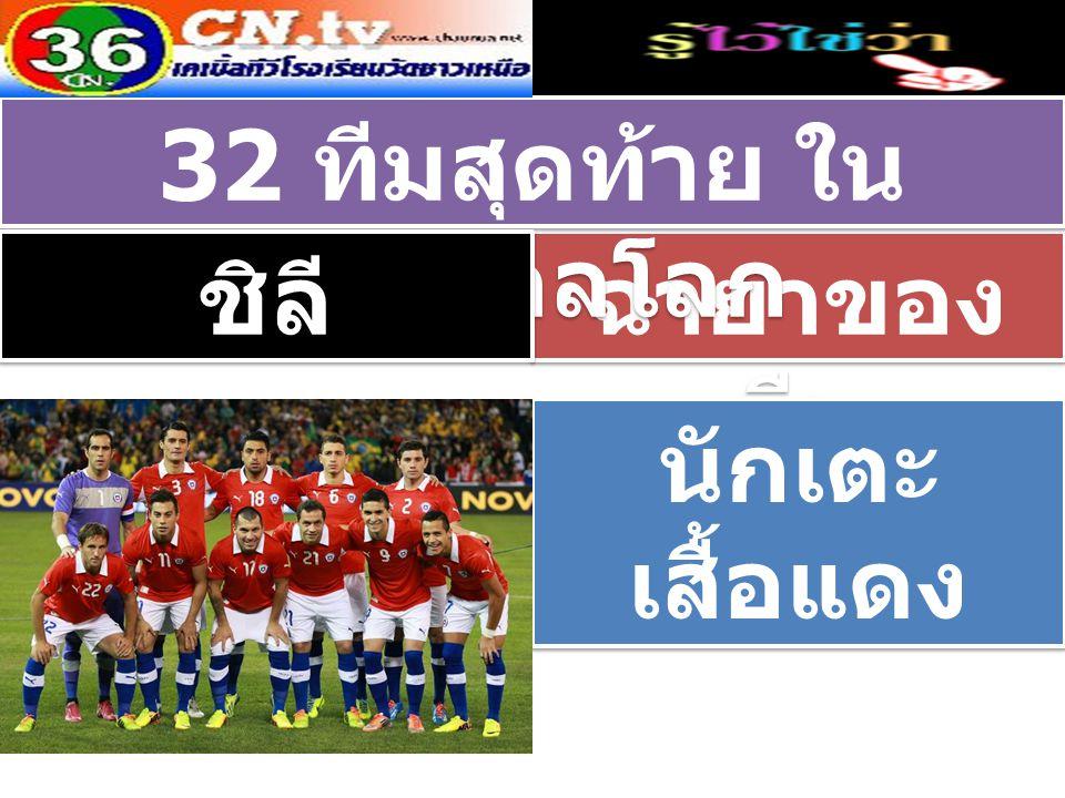 ฉายาของ ทีม 32 ทีมสุดท้าย ใน ฟุตบอลโลก ชิลี นักเตะ เสื้อแดง นักเตะ เสื้อแดง