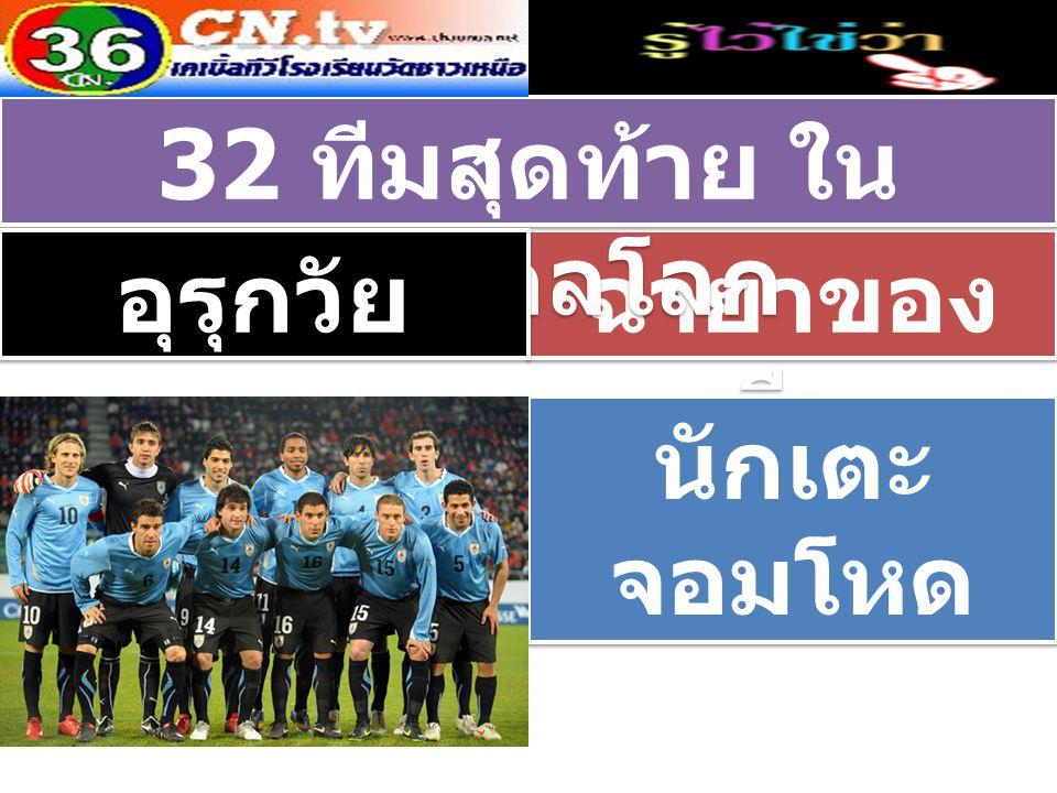 ฉายาของ ทีม 32 ทีมสุดท้าย ใน ฟุตบอลโลก อุรุกวัย นักเตะ จอมโหด นักเตะ จอมโหด