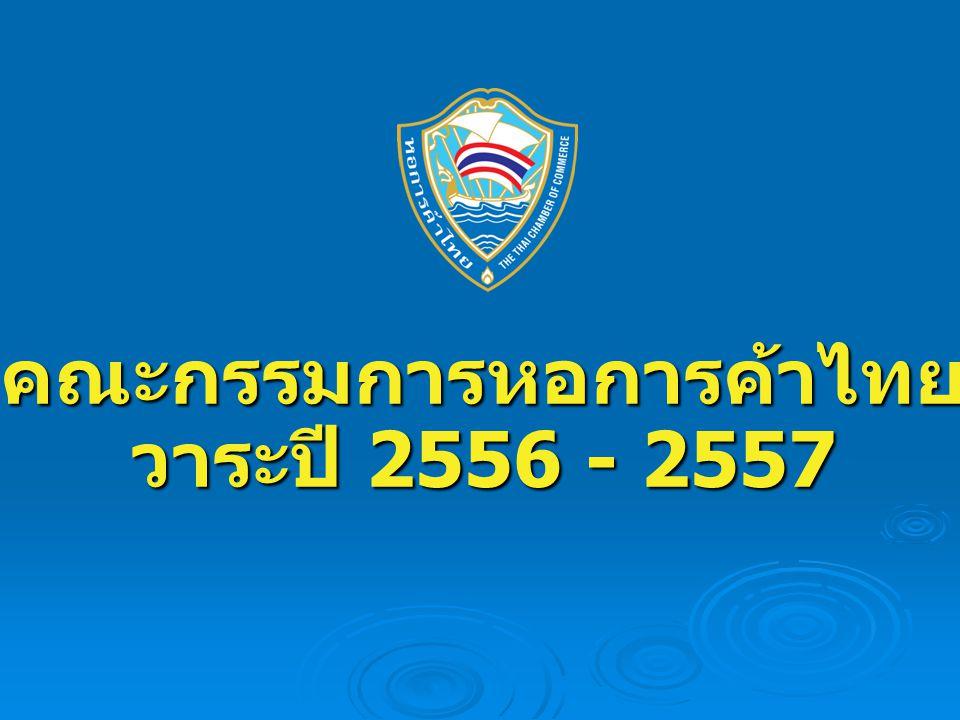 คณะกรรมการหอการค้าไทย วาระปี 2556 - 2557