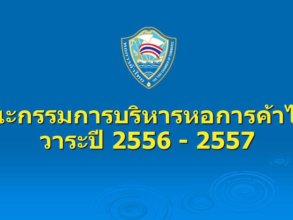 คณะกรรมการบริหารหอการค้าไทย วาระปี 2556 - 2557