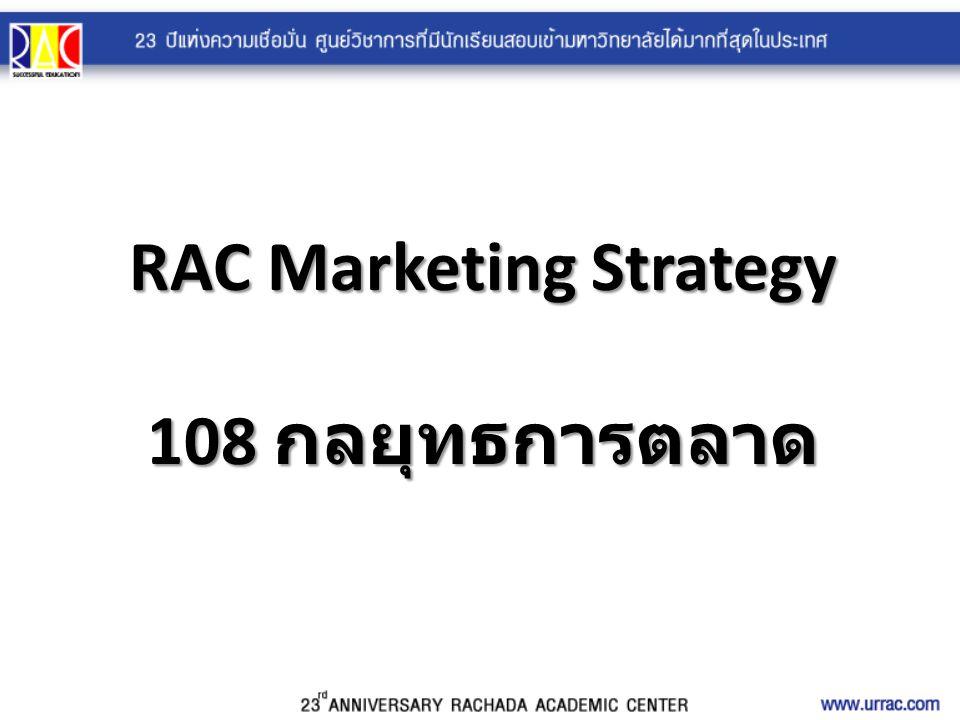 RAC Marketing Strategy 108 กลยุทธการตลาด
