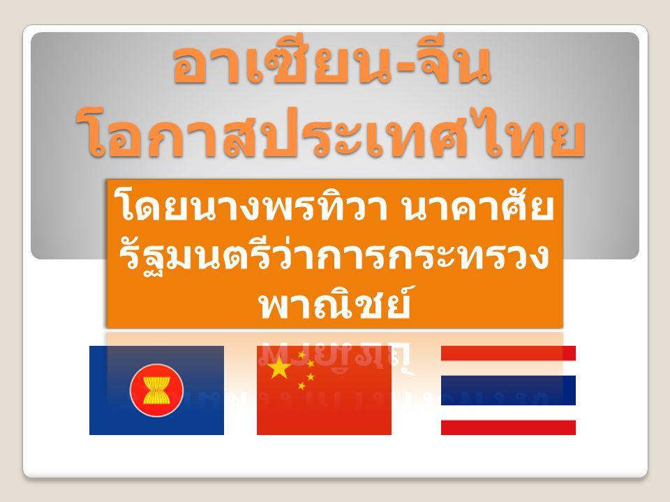 อาเซียน - จีน โอกาสประเทศไทย