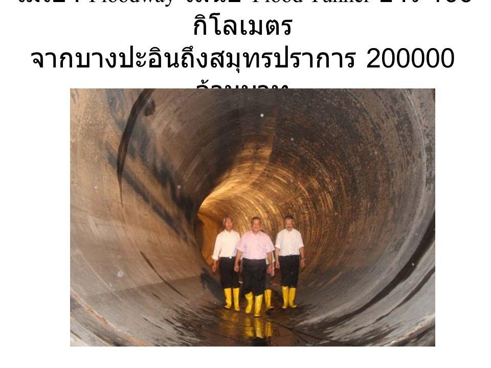 ไม่เอา Floodway เสนอ Flood Tunnel ยาว 100 กิโลเมตร จากบางปะอินถึงสมุทรปราการ 200000 ล้านบาท