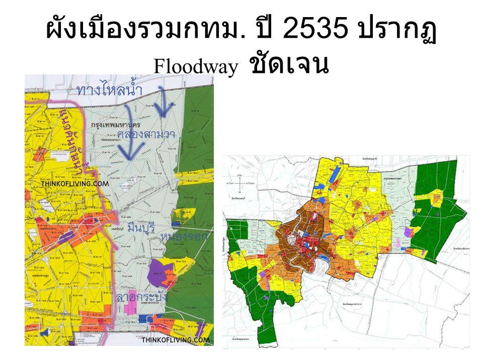 แต่ผังเมืองปริมณฑลเอาบ้านจัดสรร ไม่เอา Floodway