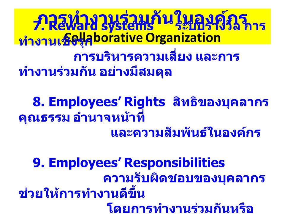 การทำงานร่วมกันในองค์กร Collaborative Organization 7.