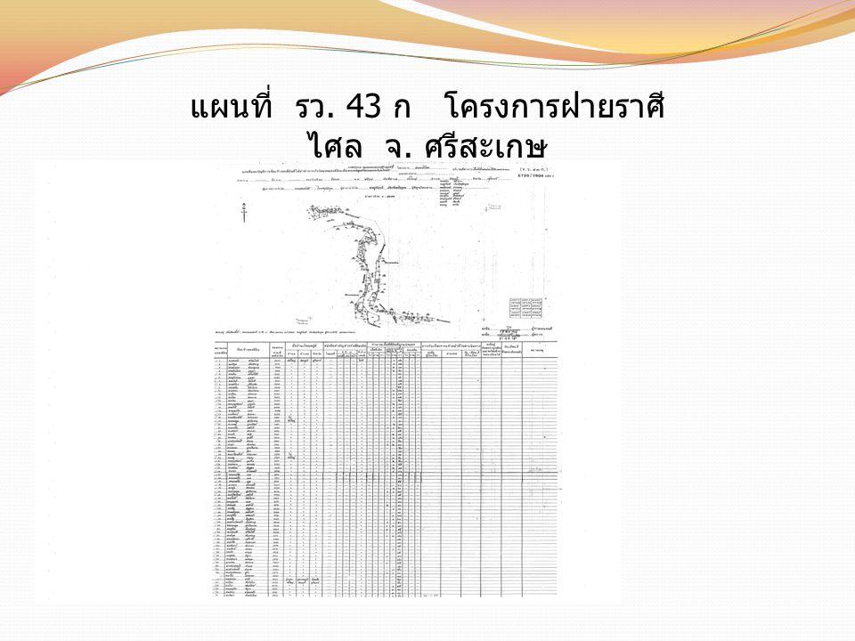 แผนที่ รว. 43 ก โครงการฝายราศี ไศล จ. ศรีสะเกษ