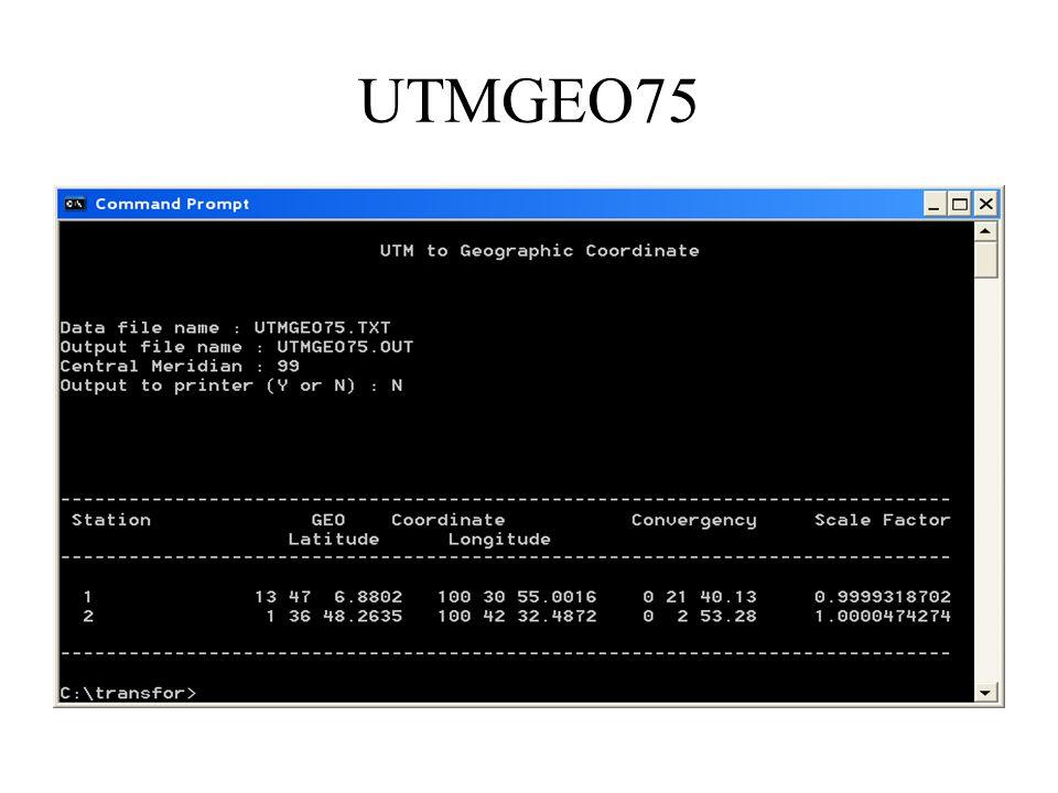 UTMGEO75