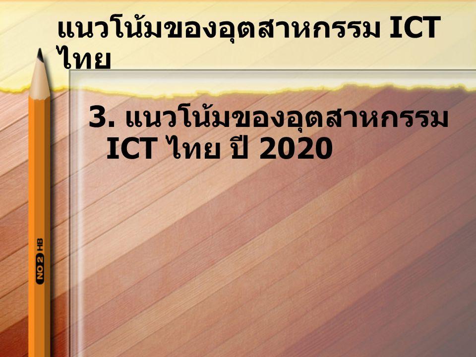 แนวโน้มของอุตสาหกรรม ICT ไทย 3. แนวโน้มของอุตสาหกรรม ICT ไทย ปี 2020