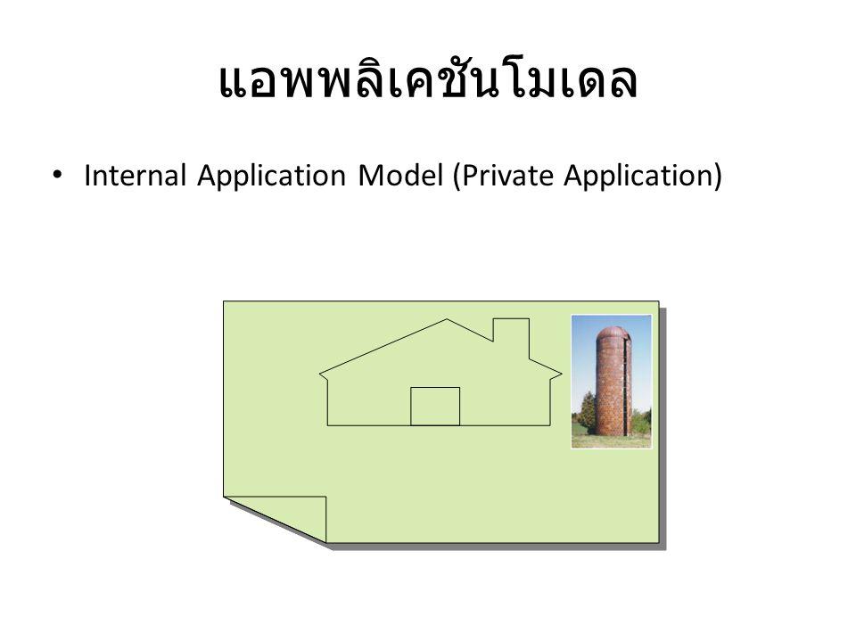 แอพพลิเคชันโมเดล Internal Application Model (Private Application)