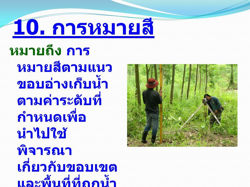 การเตรียมงาน ( ต่อ ) ( 6) จัดทำหลักเขต ชป.