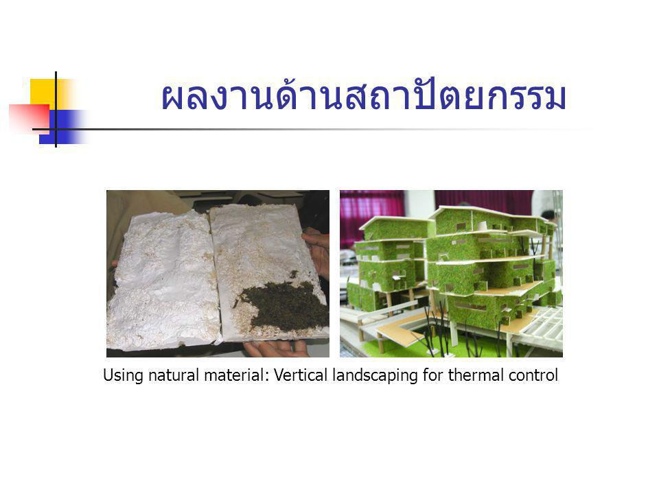 ผลงานด้านสถาปัตยกรรม Using natural material: Vertical landscaping for thermal control