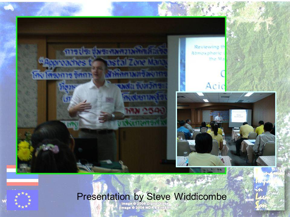 Presentation by Steve Widdicombe