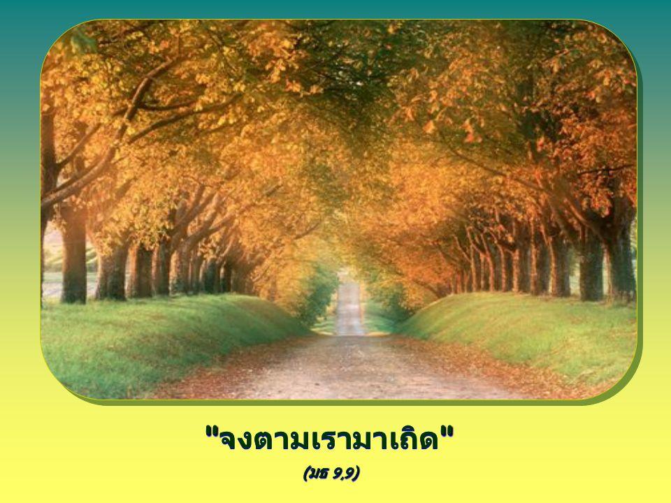( มธ 9,9 ) จงตามเรามาเถิด ( มธ 9,9 )