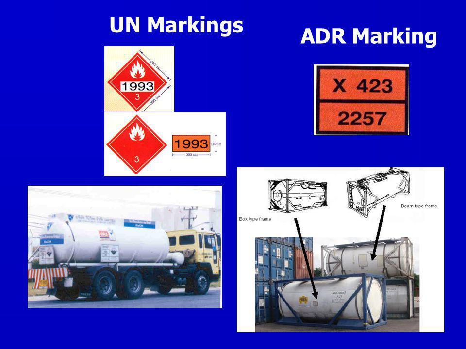 10 UN Markings ADR Marking
