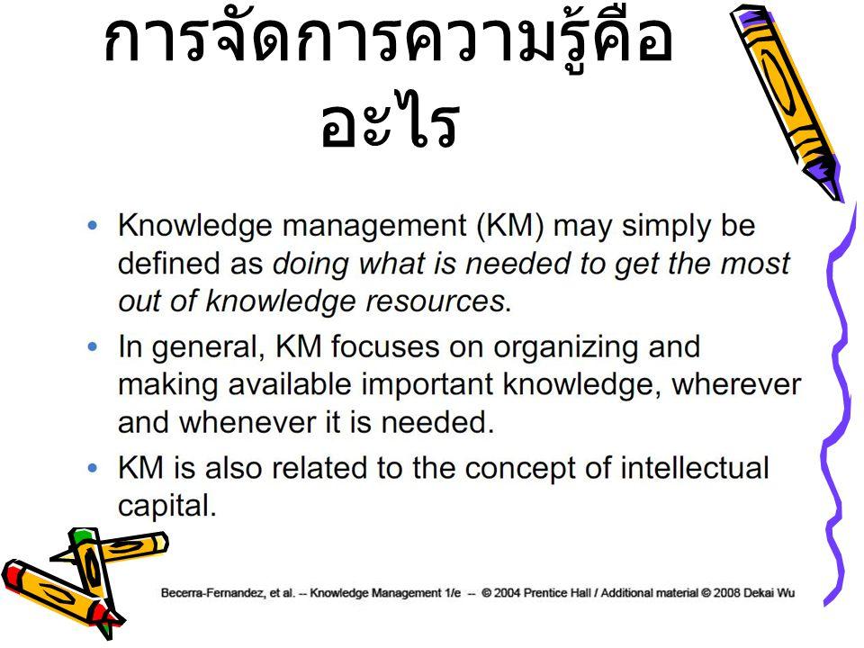 การจัดการความรู้คือ อะไร
