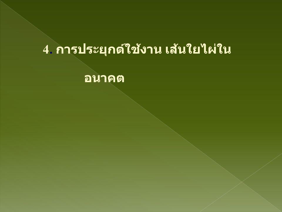 4. การประยุกต์ใช้งาน เส้นใยไผ่ใน อนาคต