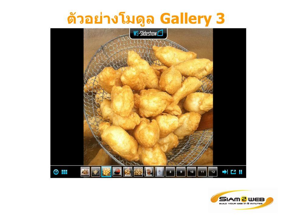 ตัวอย่างโมดูล Gallery 3